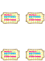 """""""Multi Colored Label Templates for Mothers"""""""