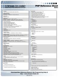 """Php Basics Reference Sheet"""