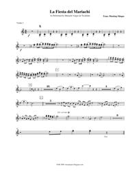 Plucking Mingus - La Fiesta Del Mariachi Violin Sheet Music