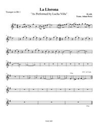 Adam Rerez - La Llorona as Performed by Lucha Villa Trumpet Sheet Music