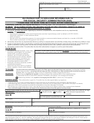 Form SSA-827 Authorization to Disclose Information to the Social Security Administration