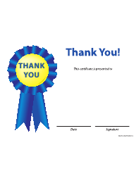 Blue Thank You Certificate Template
