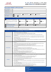"Form ZA-DC-F-08 ""Building Permit Application"" - Dubai, United Arab Emirates"