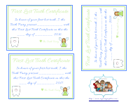 """First Lost Tooth Certificate Templates"""