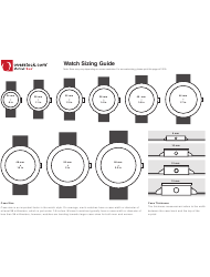 Watch Sizing Chart - Overstock