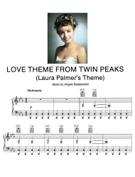 """Angelo Badalamenti - Love Theme From Twin Peaks Piano Sheet Music"""