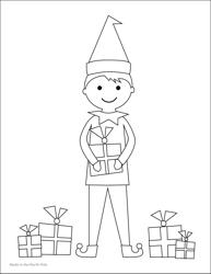 """Elf Coloring Sheet"""