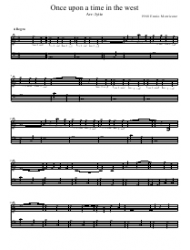 Ennio Morricone - Once Upon a Time in the West Piano Sheet Music