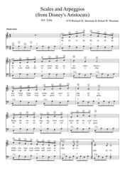 Richard M. Sherman and Robert B. Sherman - Scales and Arpeggios (From Disney's Aristocats) Sheet Music