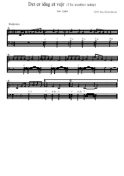 Poul Schierbeck - Det Er Idag Et Vejr (The Weather Today) Piano Sheet Music