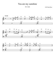 Paul Rice - You Are My Sunshine Piano Sheet Music