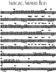 """Swinging Shepherd Blues Sheet Music and Chords"""