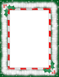 """Christmas Letter Border Templates"""