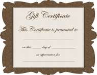 Brown Gift Certificate Template
