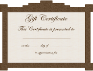 Gift Certificate Template - Brown Border