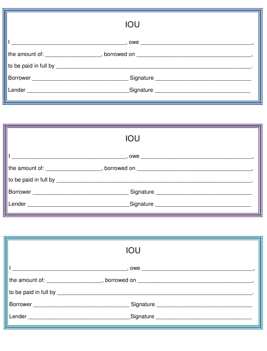 i owe you template three per page download printable pdf
