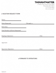 Vacation Request Form - Thoughtmatter