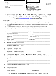 """Ghana Visa Application Form - Embassy of Ghana"" - Washington, D.C."