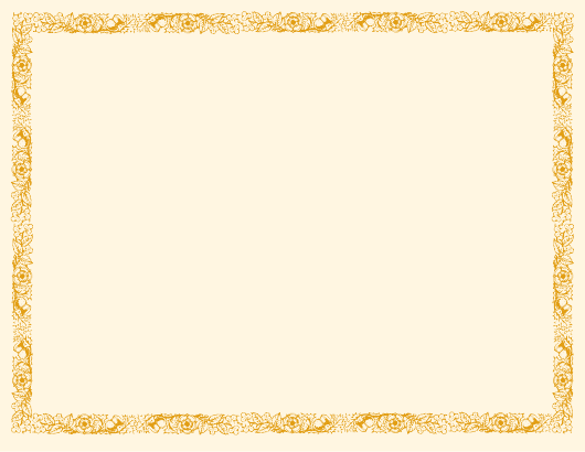"""""""Blank Certificate Template With Brown Border"""" Download Pdf"""
