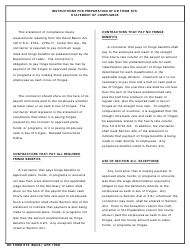 DD Form 879 Statement of Compliance, Page 2