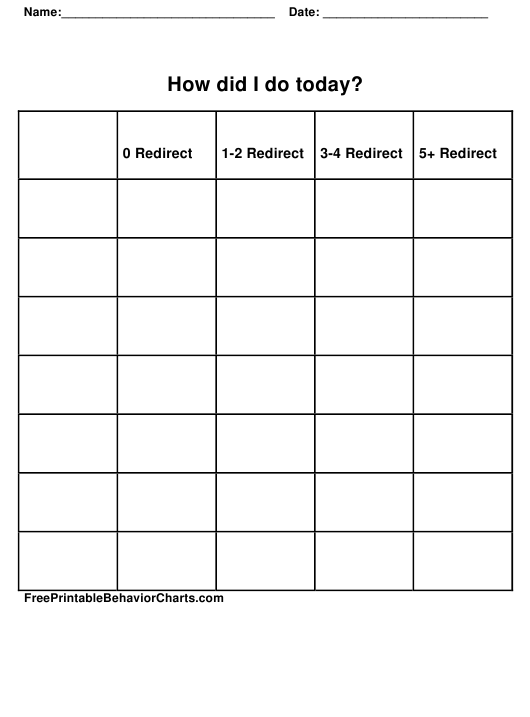 Behavior Tracking Sheet Download Pdf