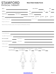 """""""New Client Intake Form - Stamford Physical Therapy"""""""