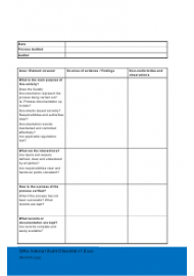 Internal Audit Checklist Template Download Printable Pdf