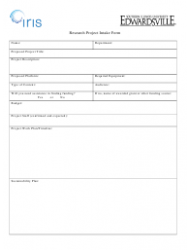 Research Project Intake Form - Iris