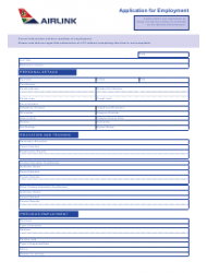 Application Form for Employment - Airlink