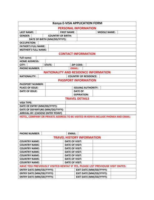 kenya-e-visa-application-form_big Online China Visa Application Form V on form for study, service center singapore, form.pdf, completion instructins, service center, form fillable,