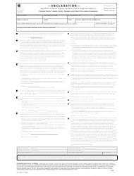 Form HS-7 Declaration of Importation of Motor Vehicles and Motor Vehicle Equipment Subject to Federal Motor Vehicle Safety, Bumper and Theft Prevention Standards
