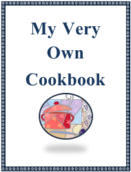 """""""My Very Own Cookbook Template"""""""