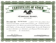 """Stock Certificate Template"""