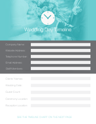 """Wedding Day Timeline Template"""