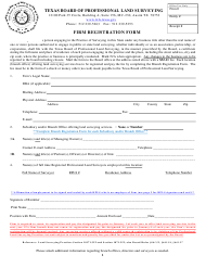 Firm Registration Form - Texas