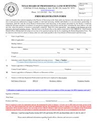 """Firm Registration Form"" - Texas"