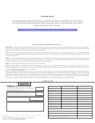 "Form A-3 ""Annual Reconciliation of Alabama Income Tax Withheld"" - Alabama"