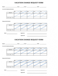 Vacation Change Request Form