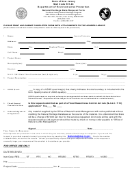 """Natural Heritage Data Request Form"" - New Jersey"