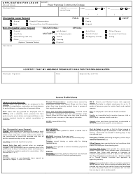 Application Form for Leave - River Parishes Community College