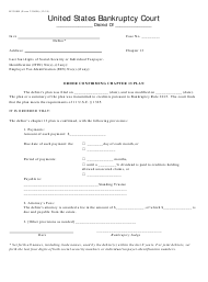 "Form B2300B ""Order Confirming Chapter 13 Plan"""