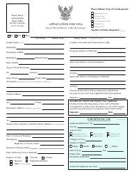 """Thai Visa Application Form - Embassy of Thailand"" - Kuala Lumpur, Malaysia"