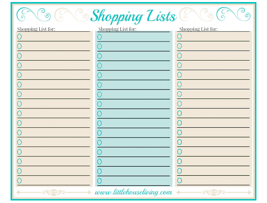 """Shopping List Templates"" Download Pdf"