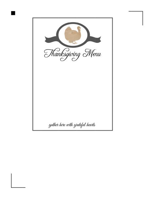 Thanksgiving Menu Template Download Printable Pdf Templateroller