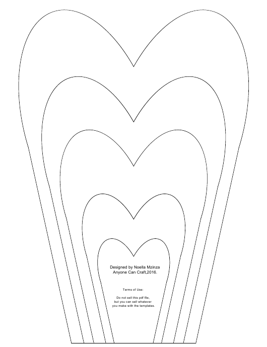 """Heart Shaped Flower Petals Template"" Download Pdf"