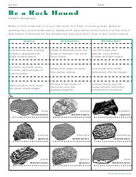 Be A Rock Hound Worksheet With Answer Key - Stewardship Through Education, Llc