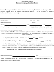 Scholarship Application Form - Little Country Church