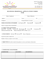 Business Proposal Application Template - Saulteaux Enterprises - Canada