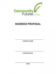 Business Proposal Template - Community Futures Chinook
