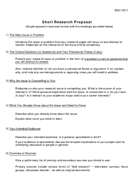 """Short Research Proposal Template"""